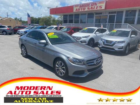 2016 Mercedes-Benz C-Class for sale at Modern Auto Sales in Hollywood FL