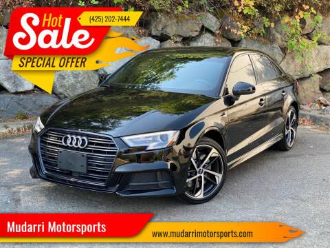 2020 Audi A3 for sale at Mudarri Motorsports in Kirkland WA