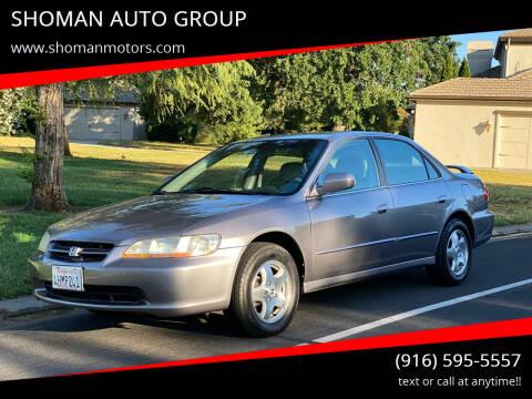 2000 Honda Accord for sale at SHOMAN MOTORS in Davis CA