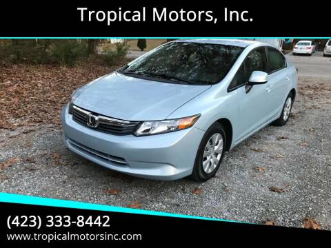 2012 Honda Civic for sale at Tropical Motors, Inc. in Riceville TN