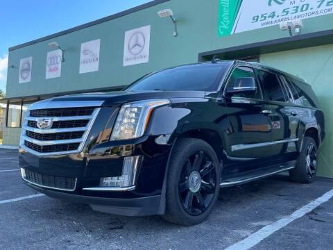 2016 Cadillac Escalade ESV for sale at KARZILLA MOTORS in Oakland Park FL