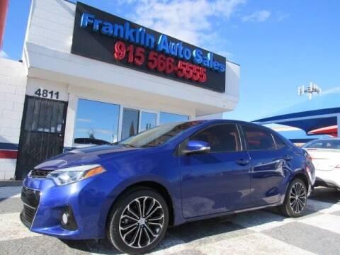 2014 Toyota Corolla for sale at Franklin Auto Sales in El Paso TX