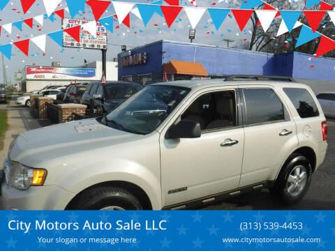 2008 Ford Escape for sale at City Motors Auto Sale LLC in Redford MI