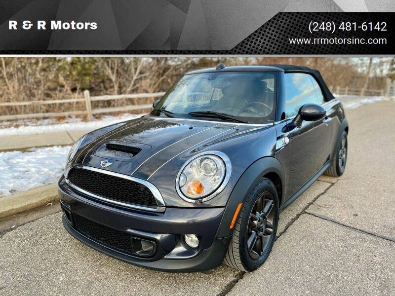 2012 MINI Cooper Convertible for sale at R & R Motors in Waterford MI