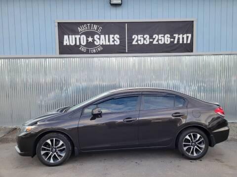 2013 Honda Civic for sale at Austin's Auto Sales in Edgewood WA