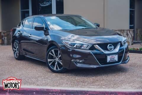 2016 Nissan Maxima for sale at Mcandrew Motors in Arlington TX