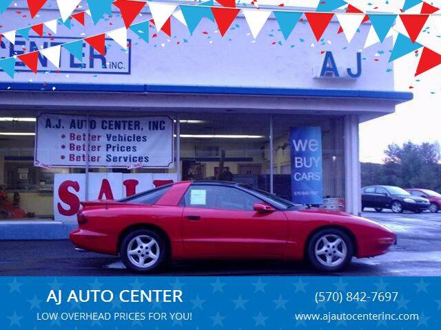 1997 Pontiac Firebird for sale at AJ AUTO CENTER in Covington PA