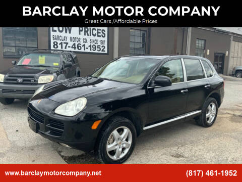 2004 Porsche Cayenne for sale at BARCLAY MOTOR COMPANY in Arlington TX