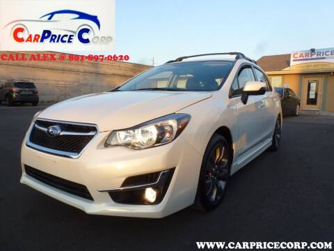 2016 Subaru Impreza for sale at CarPrice Corp in Murray UT