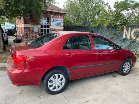 2003 Toyota Corolla for sale at El Jasho Motors in Grand Prairie TX