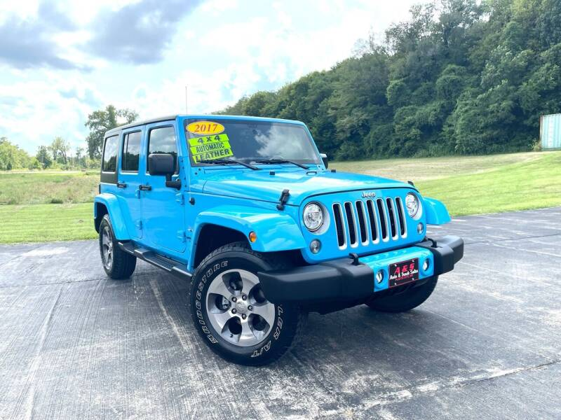 2017 Jeep Wrangler Unlimited for sale at A & S Auto and Truck Sales in Platte City MO