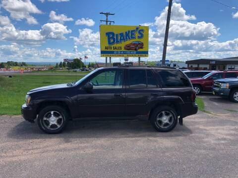 2008 Chevrolet TrailBlazer for sale at Blakes Auto Sales in Rice Lake WI