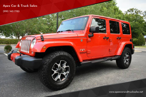 2017 Jeep Wrangler Unlimited for sale at Apex Car & Truck Sales in Apex NC