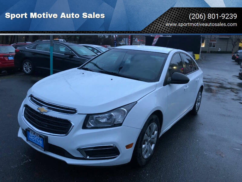 2016 Chevrolet Cruze Limited for sale at Sport Motive Auto Sales in Seattle WA