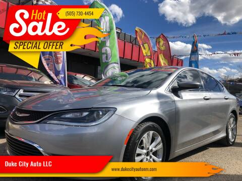 2016 Chrysler 200 for sale at Duke City Auto LLC in Gallup NM