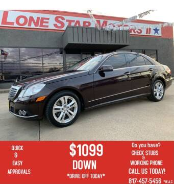 2010 Mercedes-Benz E-Class for sale at LONE STAR MOTORS II in Fort Worth TX
