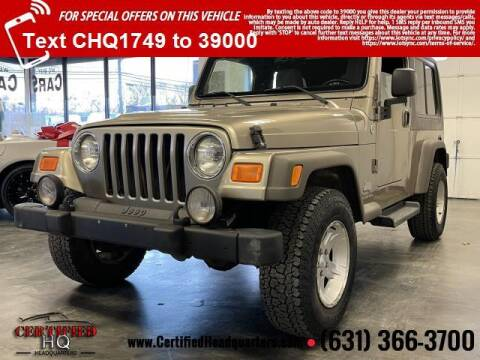 2005 Jeep Wrangler for sale at CERTIFIED HEADQUARTERS in St James NY
