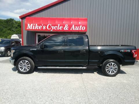 2015 Ford F-150 for sale at MIKE'S CYCLE & AUTO in Connersville IN