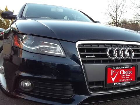 2010 Audi A4 for sale at 1st Choice Auto Sales in Fairfax VA
