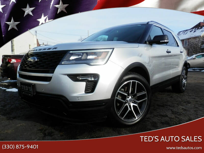 2018 Ford Explorer for sale at Ted's Auto Sales in Louisville OH