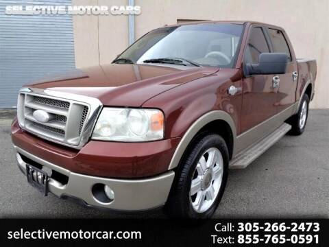 2006 Ford F-150 for sale at Selective Motor Cars in Miami FL