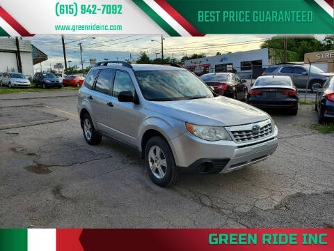 2011 Subaru Forester for sale at Green Ride Inc in Nashville TN
