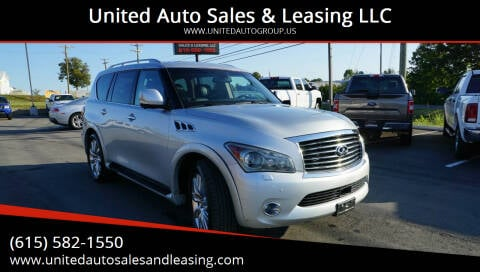 2011 Infiniti QX56 for sale at United Auto Sales & Leasing LLC in La Vergne TN