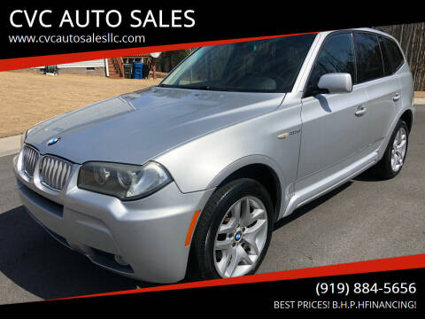 2007 BMW X3 for sale at CVC AUTO SALES in Durham NC