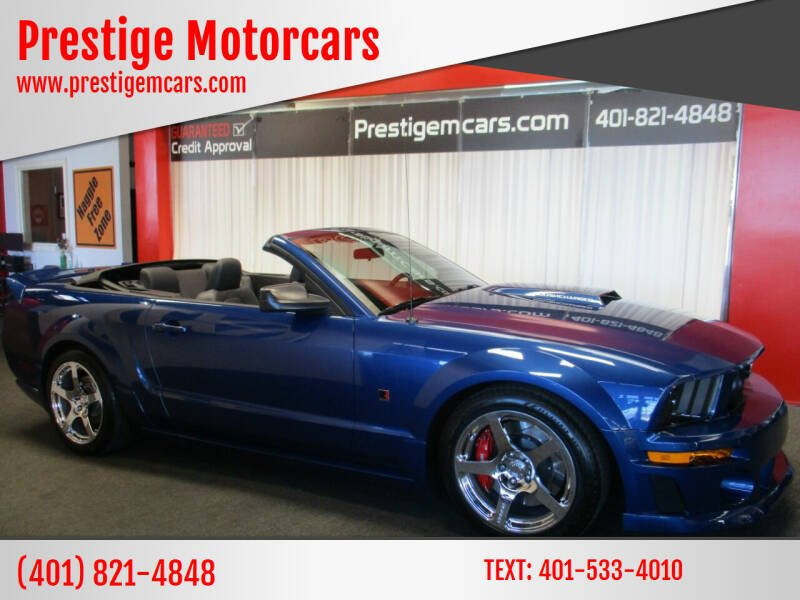 2008 Ford Mustang for sale at Prestige Motorcars in Warwick RI