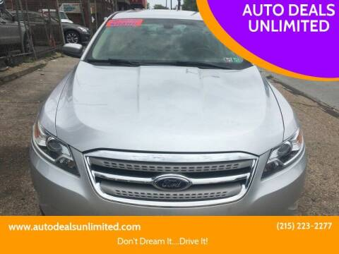 2010 Ford Taurus for sale at AUTO DEALS UNLIMITED in Philadelphia PA