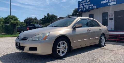 2007 Honda Accord for sale at P & A AUTO SALES in Houston TX
