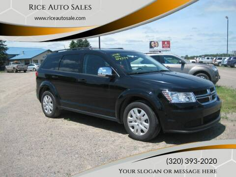 2018 Dodge Journey for sale at Rice Auto Sales in Rice MN