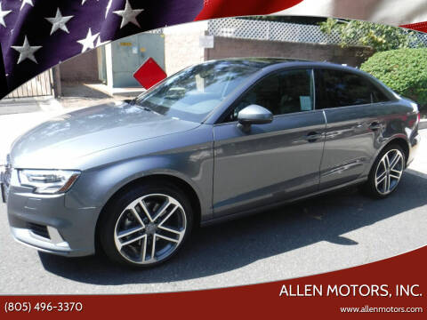 2017 Audi A3 for sale at Allen Motors, Inc. in Thousand Oaks CA