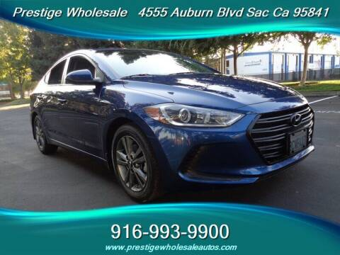 2018 Hyundai Elantra for sale at Prestige Wholesale in Sacramento CA