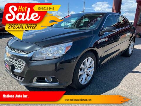 2014 Chevrolet Malibu for sale at Nations Auto Inc. in Denver CO