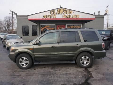 2006 Honda Pilot for sale at Clawson Auto Sales in Clawson MI