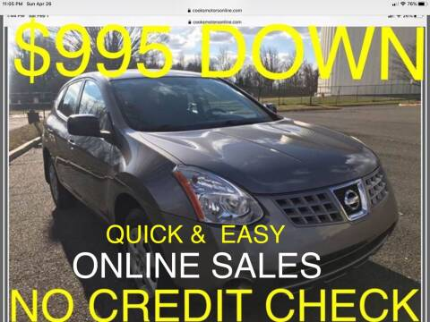2009 Nissan Rogue for sale at Cooks Motors in Westampton NJ