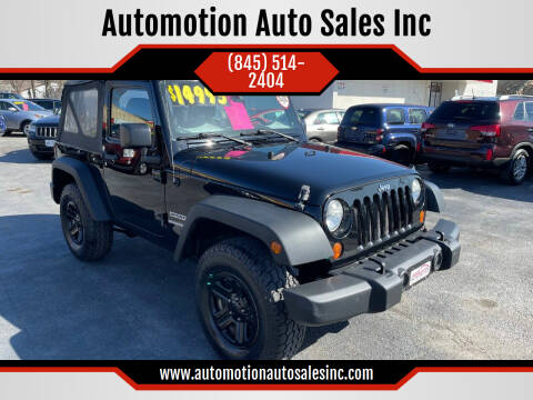 2012 Jeep Wrangler for sale at Automotion Auto Sales Inc in Kingston NY