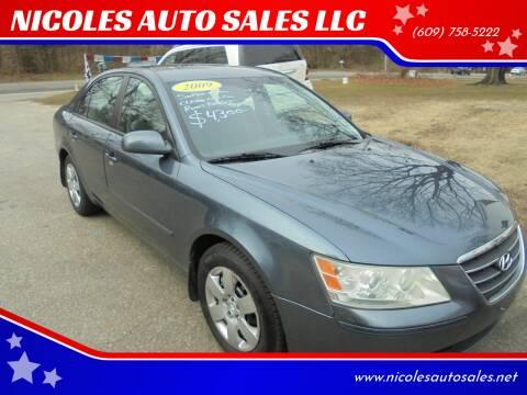 2009 Hyundai Sonata for sale at NICOLES AUTO SALES LLC in Cream Ridge NJ