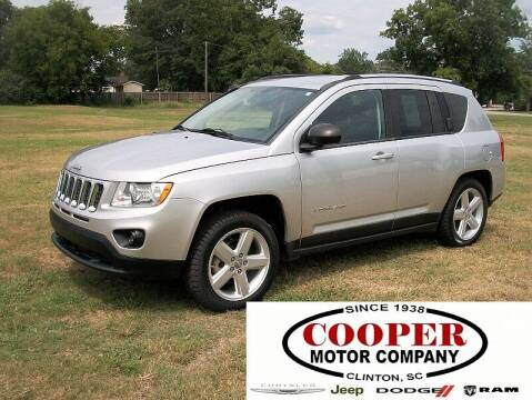 2011 Jeep Compass for sale at Cooper Motor Company in Clinton SC