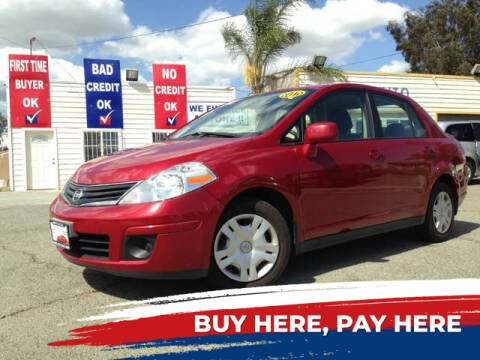 2010 Nissan Versa for sale at CALIFORNIA AUTO FINANCE GROUP in Fontana CA