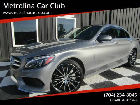 2015 Mercedes-Benz C-Class for sale at Metrolina Car Club in Matthews NC