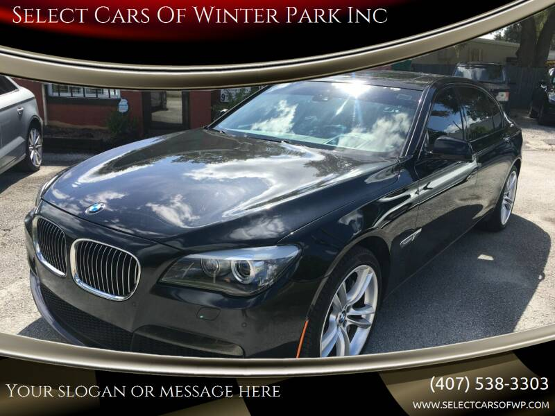 2012 BMW 7 Series for sale at Select Cars Of Winter Park Inc in Orlando FL