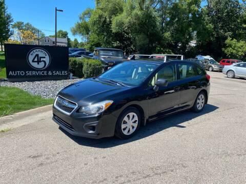 2013 Subaru Impreza for sale at Station 45 Auto Sales Inc in Allendale MI