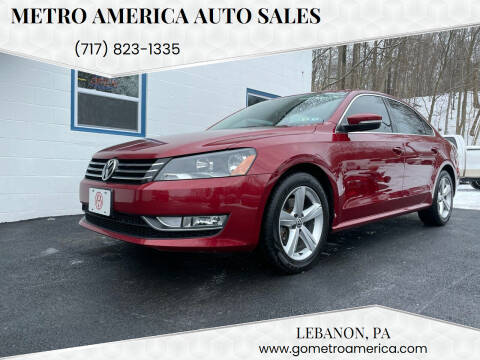 2015 Volkswagen Passat for sale at METRO AMERICA AUTO SALES of Lebanon in Lebanon PA