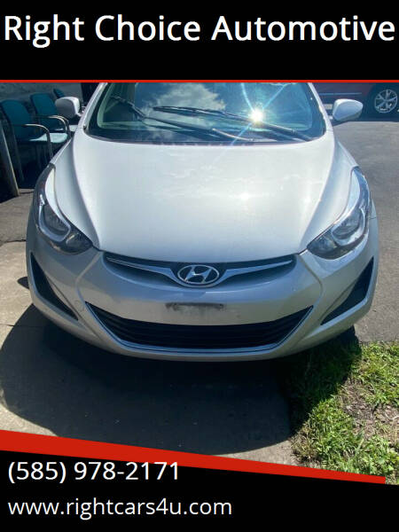 2014 Hyundai Elantra for sale at Right Choice Automotive in Rochester NY