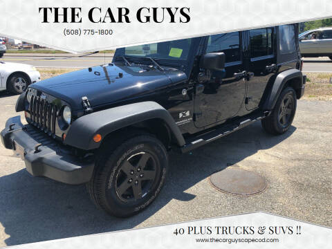 2009 Jeep Wrangler Unlimited for sale at The Car Guys in Hyannis MA