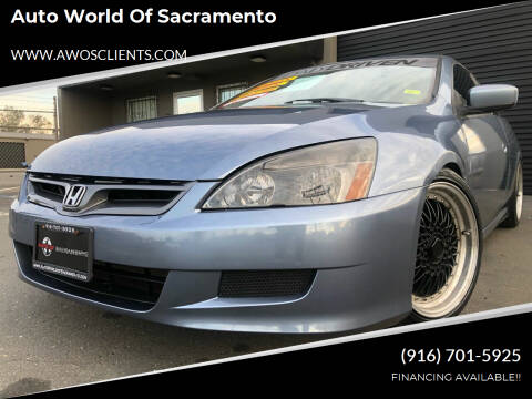 2006 Honda Accord for sale at Auto World of Sacramento Stockton Blvd in Sacramento CA