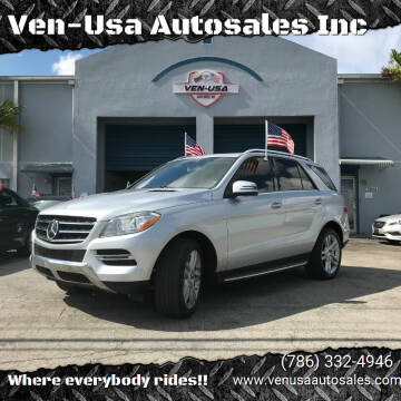 2013 Mercedes-Benz M-Class for sale at Ven-Usa Autosales Inc in Miami FL
