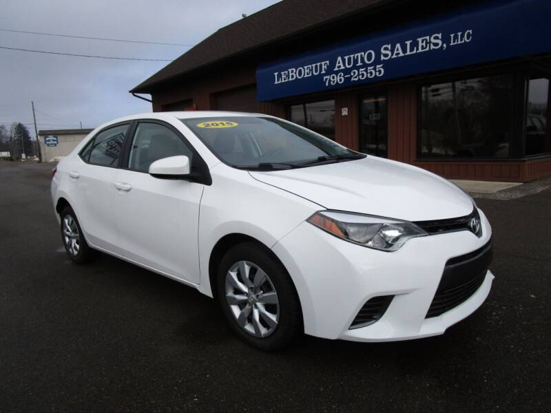 2015 Toyota Corolla for sale at LeBoeuf Auto Sales in Waterford PA